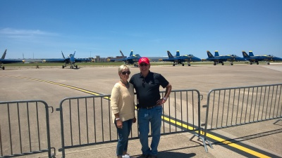 Rich and Carol Driscoll at NAS Fort Worth JRB Airshow