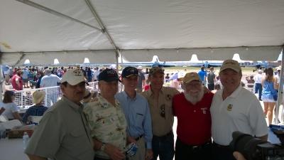Former SECNAV Gordon England with Fort Worth Air Power Crew