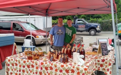 Farmers' Market selling maple syrup