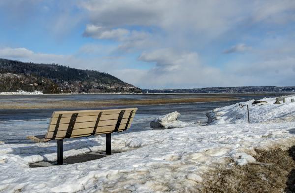 Baie-Saint-Paul bench