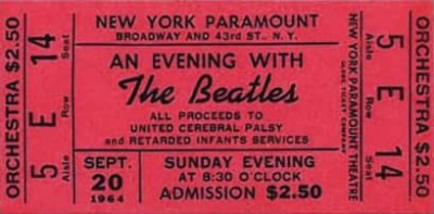 The Beatles Paramount Theatre 1964