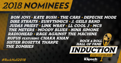 19 Nominees For Induction To Rock & Roll Hall of Fame Announced - Cast You Vote