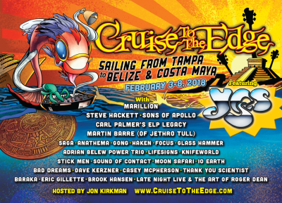 The Annual Yes Hosted Cruise To The Edge 2018