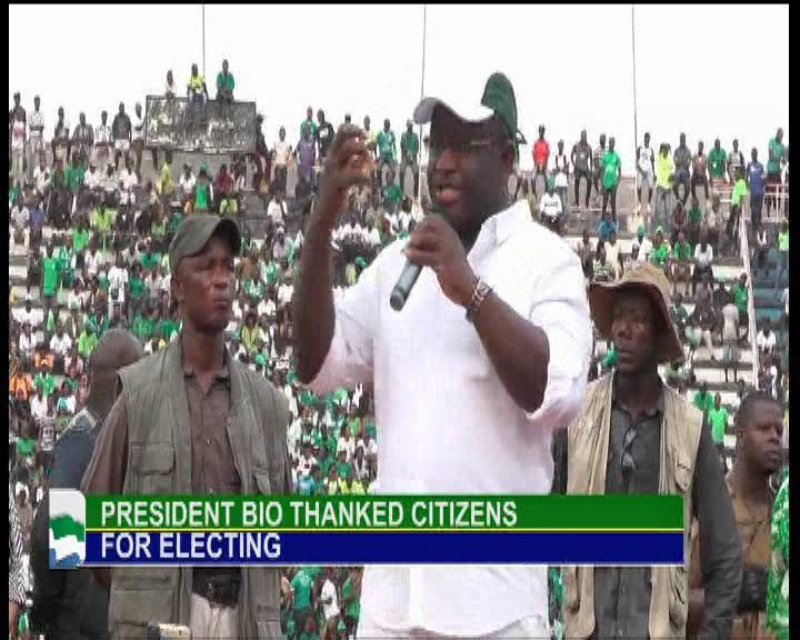 President Bio thanked Sierra Leoneans