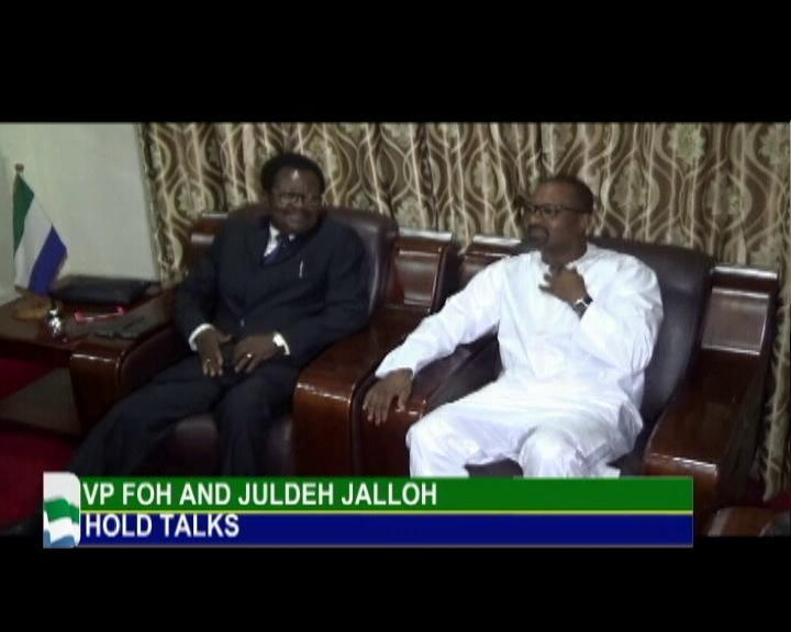 New Vice President Dr. Juldeh Jalloh taking over
