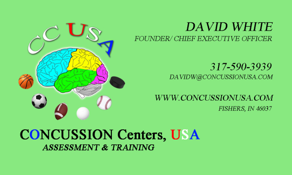 Concussion Centers USA Business Card