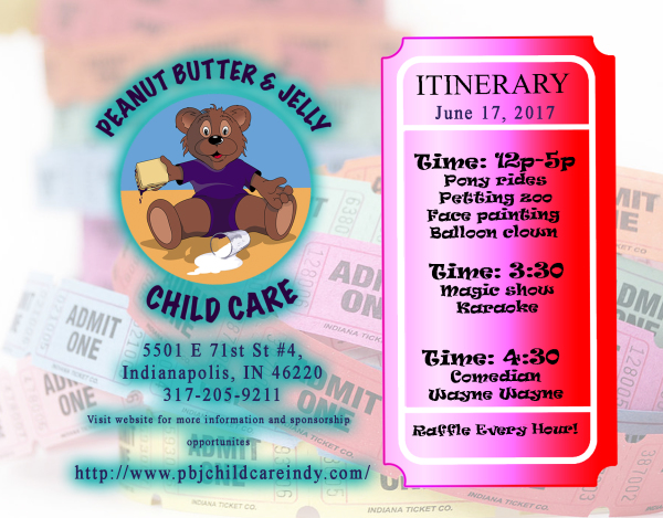 Peanut Butter & Jelly Daycare Flyer