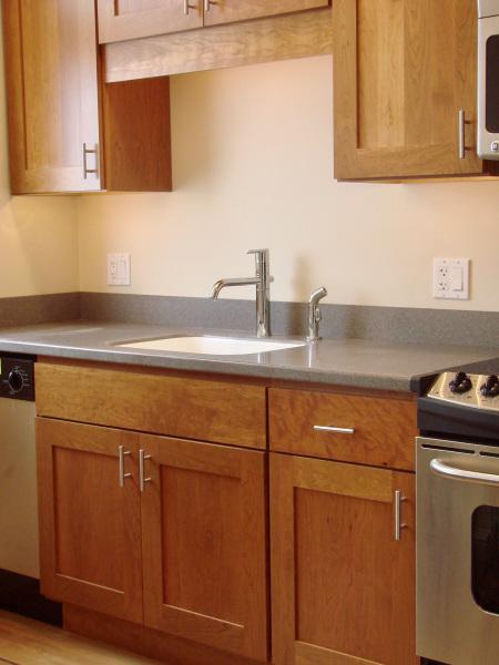 Updated kitchen cupboards, 404 Marlborough St