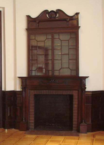 Ornate antique fireplace (non-working)