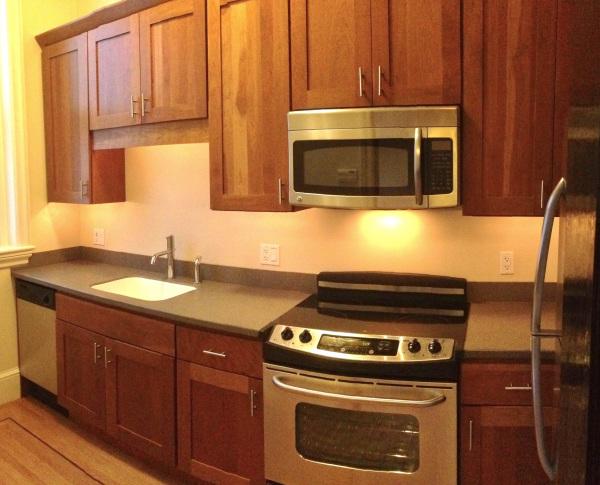 Modern kitchen with stainless steel appliances, 404 Marlborough St