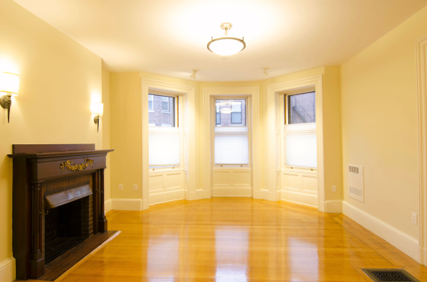 Living Room, Large and Bright with Antique Fireplace, Unit 6, 404 Marlborough St
