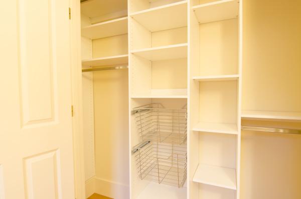 Generous storage area in the bedroom closet, 404 Marlborough St
