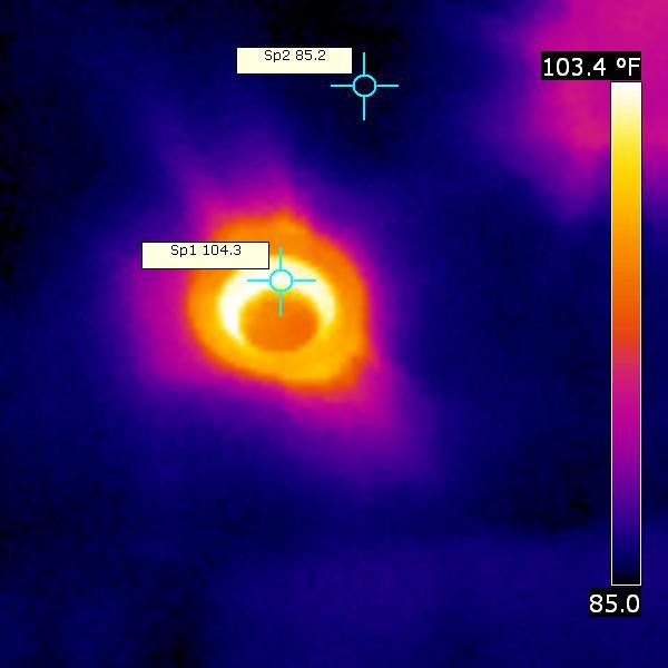 Infrared Camera on recessed light fixture