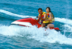 Jet Ski is the one of sports facility to use since the sea water is clean you will enjoy to try it