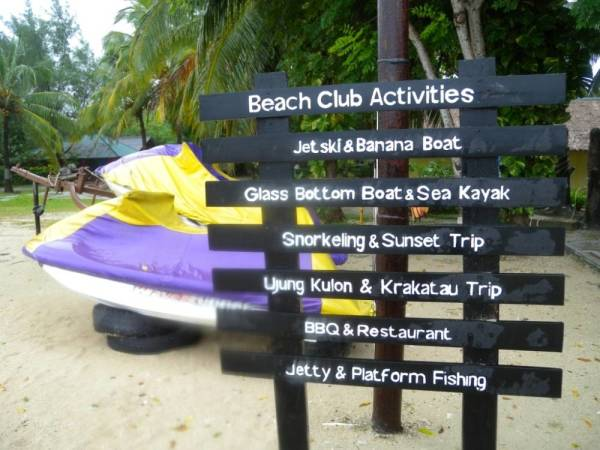 Tanjung Lesung Beach Club banana boat activitiy