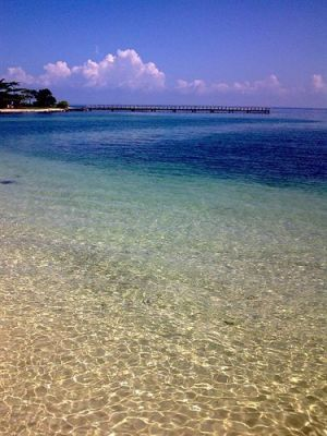 Clear water at Tanjung Lesung Beach Club