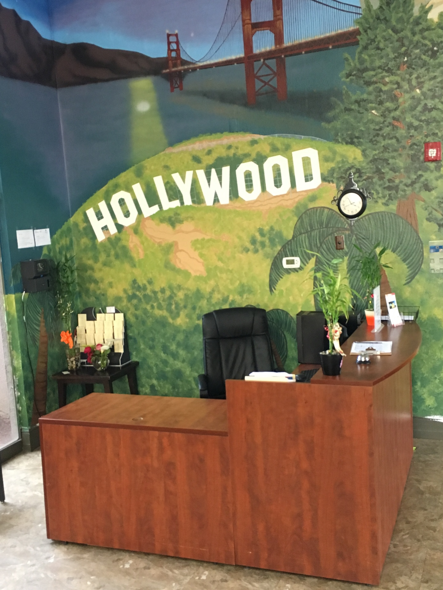 The Reception Area Mural