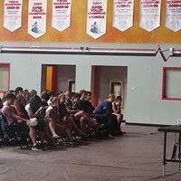 Corey Hirsch addresses PCSS students