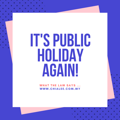 It's Public Holiday Again!