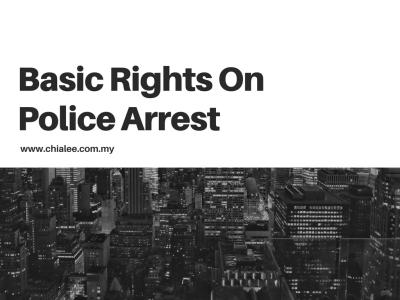 Basic Rights On Police Arrest