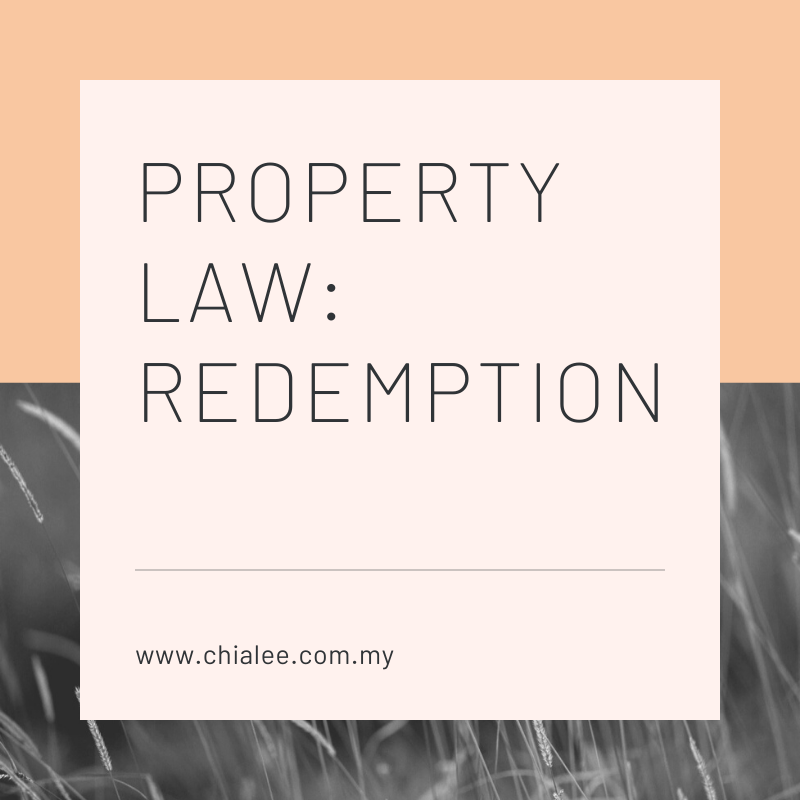 Property Law: Redemption