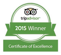 TripAdvisor awards the BLUE WHALE INN the 2015 Certificate of Excellence.