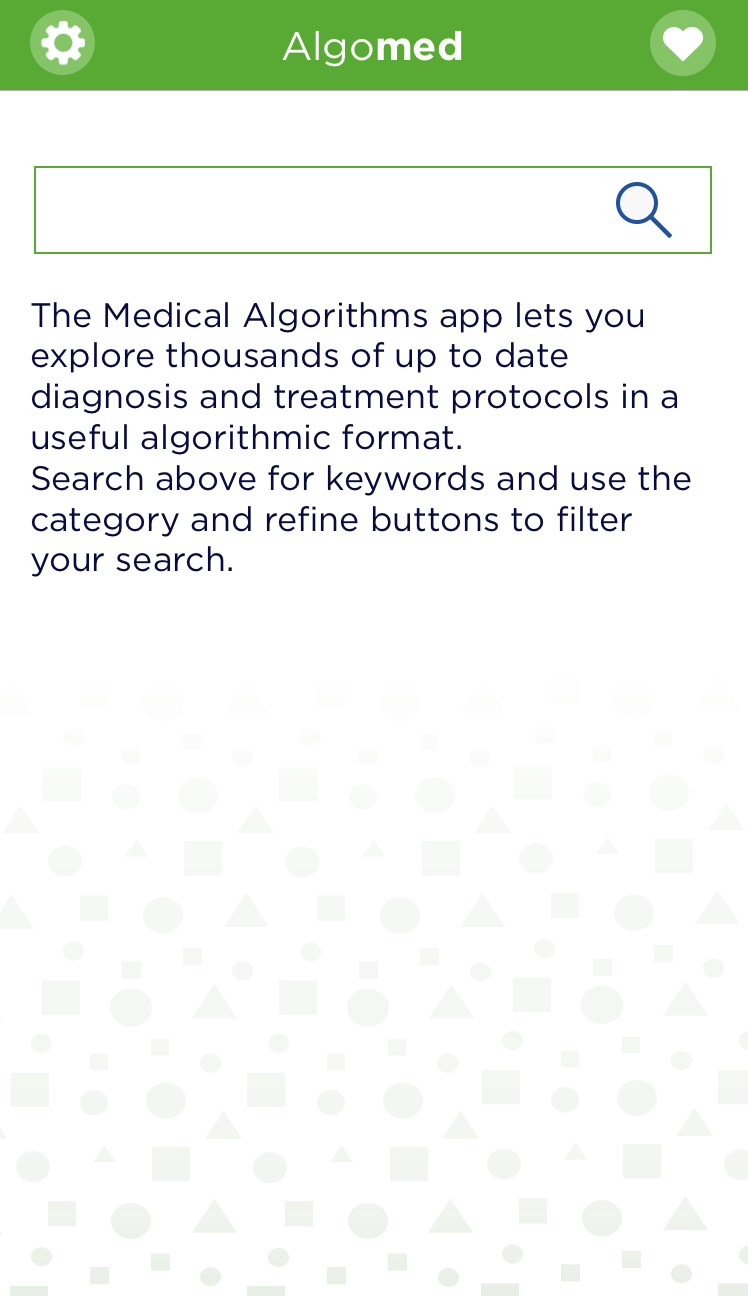algomed app home screen