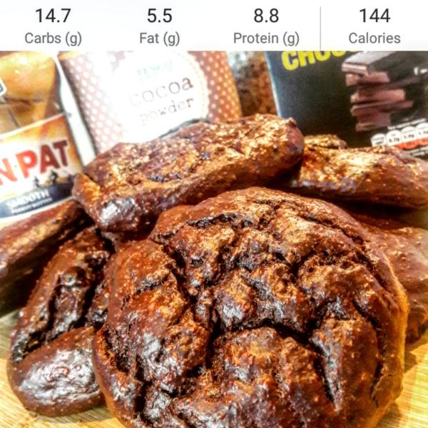 Protein double dark chocolate cookies