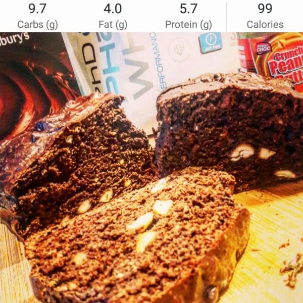 Chocolate peanut butter protein banana bread