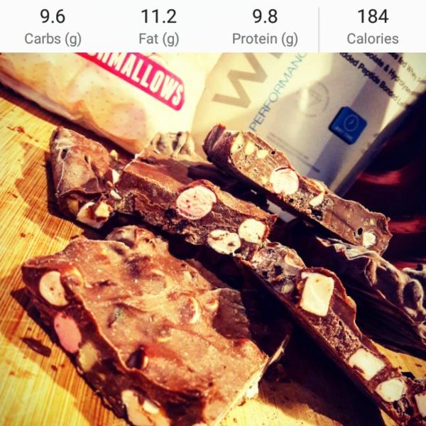High Protein Rocky Road Ice Cream Squares