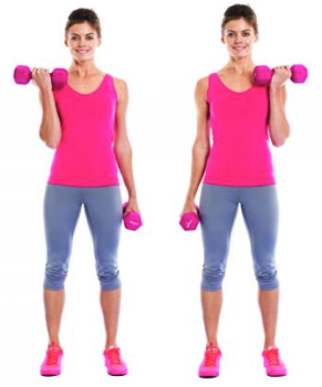 Alternating Dumbbell Curl