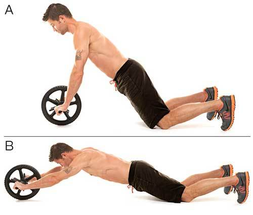 Ab Wheel Roll-Out