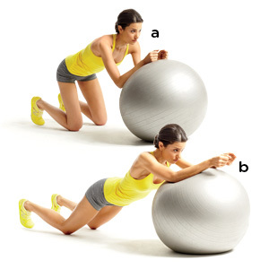 Gym Ball Plank Extension