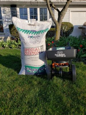 Grass Seed and Spreader