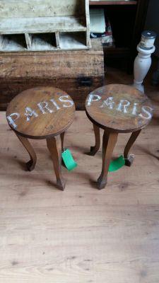 Paris Decorated tables (x2) 20 Euro