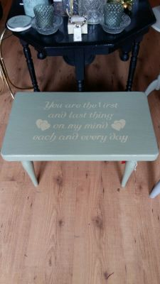 Table with wording 35 Euro