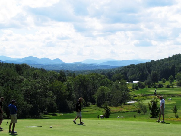 Vermont State mountains view from golf course