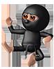 Kicking Fighting Ninja