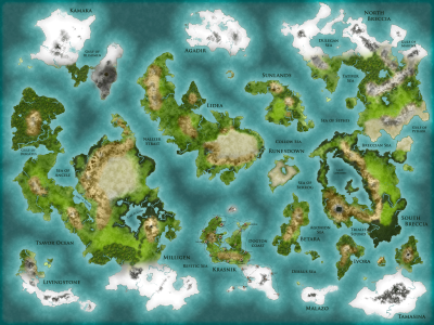 Laria World Map