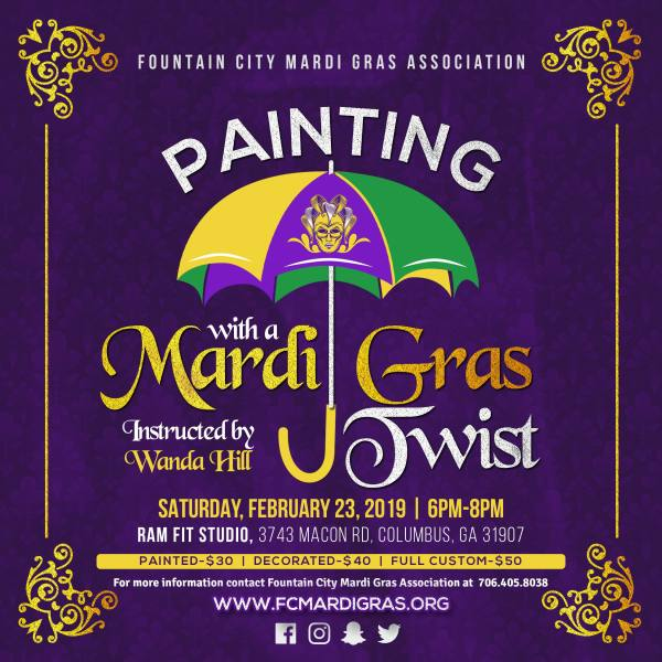Paint with a Mardi Gras Twist