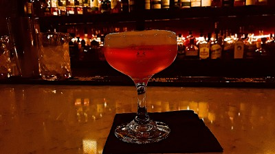 Molecular Negroni Cocktail, Iron Room Atlantic City
