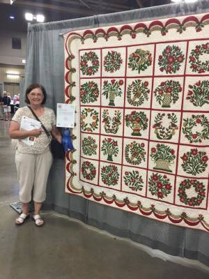 Ginger Brant and her award winning quilt from QF 2016
