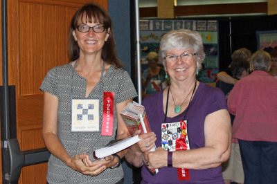Greeters Louise Lowe and Nancy Troyer