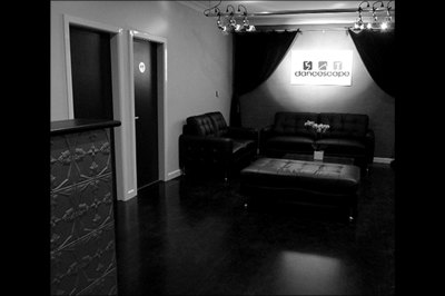 Reception and waiting area at Dancescape studios