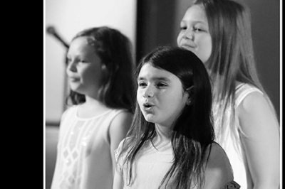 Young singers from vocal ensemble