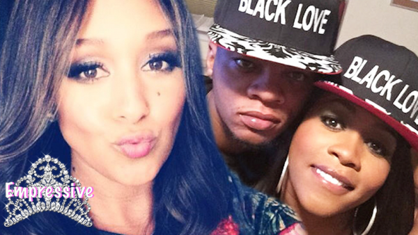 Tamera Mowry is criticized for praising interracial love over black love?