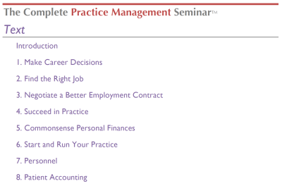 The Complete Practice Management Seminar