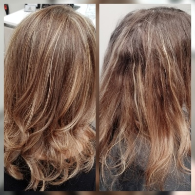 Full Highlight Tri Color and Trim