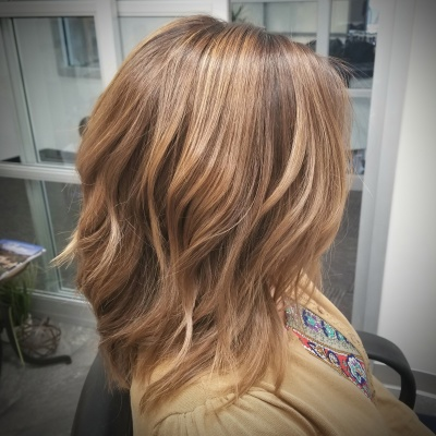 Balayage, Retouch, Toner, and Cut