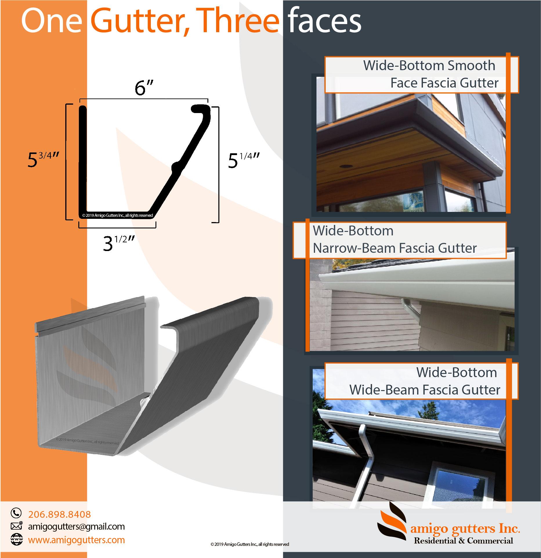 ▷Pick your GUTTER profile: ALUMINUM, Copper, Zinc - Amigo